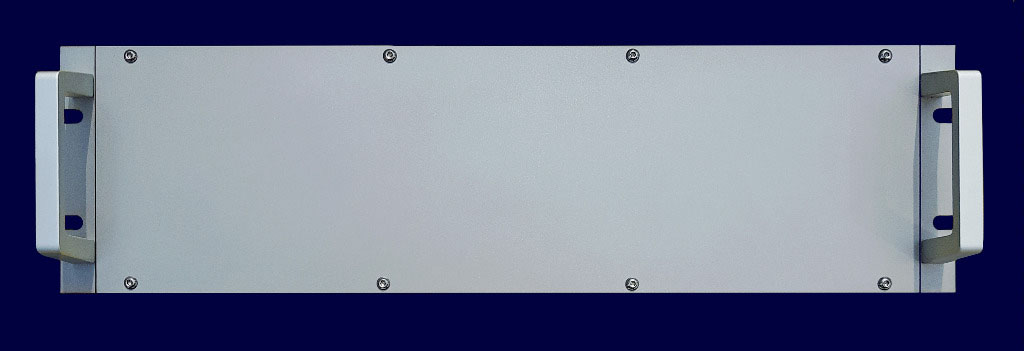 "Empty 19""-rack with front panel 3-hu, stainless steel, waterproof IP68"